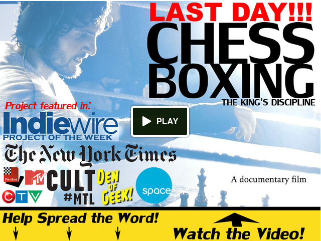 David Britton's chessboxing documentary promotion reel for Kickstarter